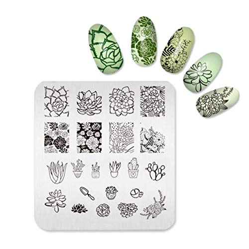 Nail Art Stamp Stamping Plates Nail Print Template for Women Stencils Beauty Template