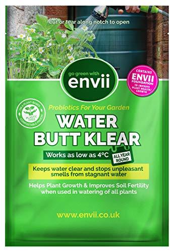 Envii Water Butt Klear – Biologischer Reiniger und Wasseraufbereiter für Regentonnen – reinigt Wasser & nährt Pflanzen – bereitet bis zu 4.000 Liter Wasser auf