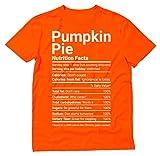 Thanksgiving Shirt Funny Pumpkin Pie Nutrition Facts Halloween T-Shirt X-Large Orange