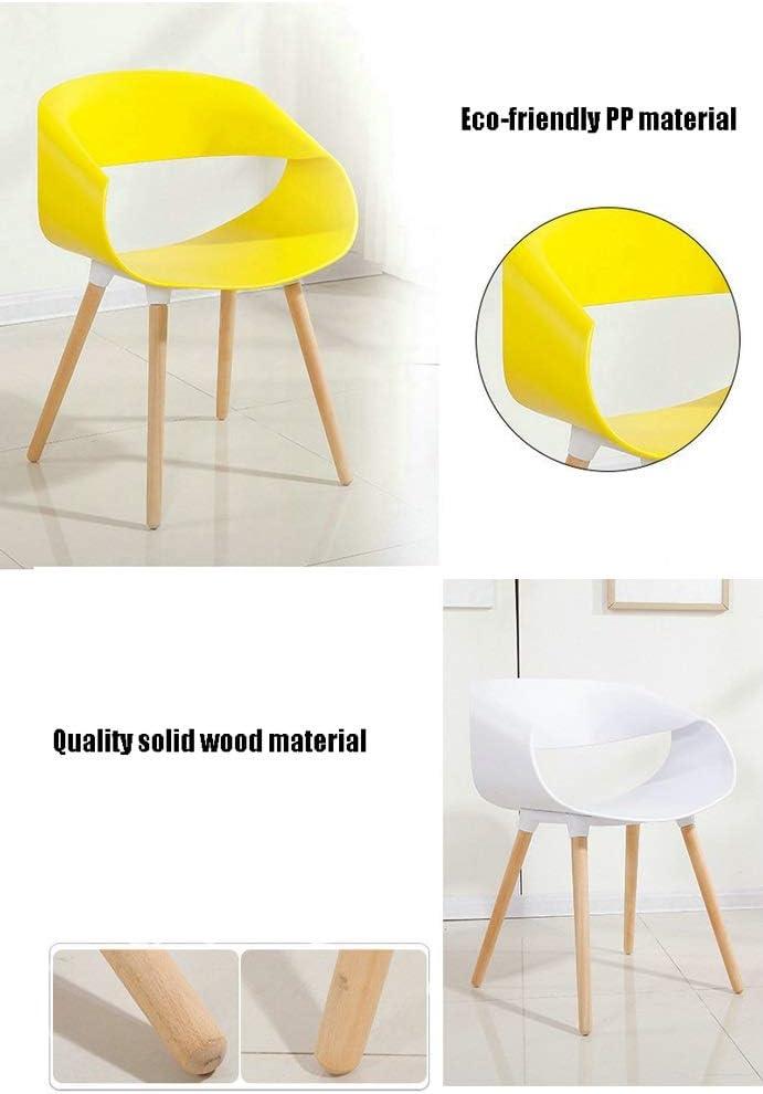Chaise à manger, Cuisine Table Chaise Café Restaurant Chaise Bois Bureau à domicile Président de la conférence de réception avec dossier (Color : Yellow) Black