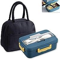 n\a porta pranzo, hauthome lunch box con posate(con borsa isolante),contiene il pranzo al sacco,porta pranzo contenitori per microonde