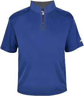 Badger Men's B-Core Short Sleeve 1/4 Zip Pullover