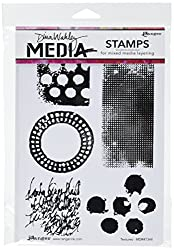 dina wakley stamps mixed media art supplies