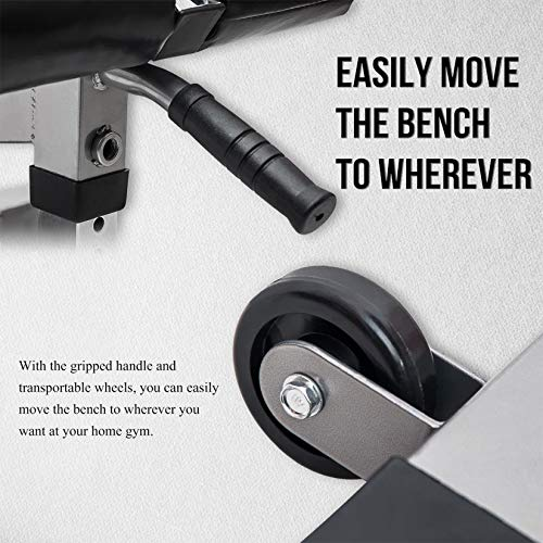 Merax Adjustable Weight Bench 800 LBS Capacity, Incline Decline Exercise Utility Workout Bench 7+4 Positions Adjustable for Multi-Purpose Home Gym Workout