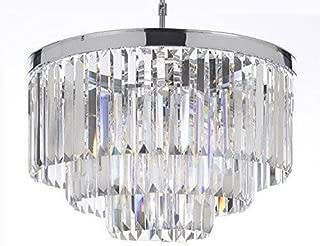 Best retro palladium glass fringe rectangular chandelier Reviews