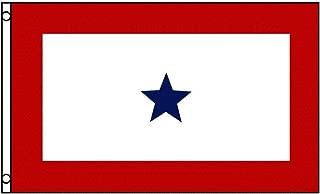 TrendyLuz Flags Blue Star Service Flag 1 Star Military 3x5 Feet Flag