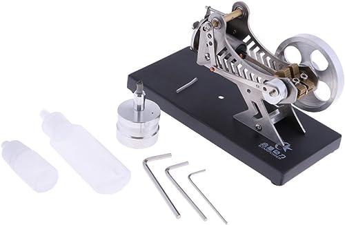 Backbayia Stirling Engine Modèle Moteur d'Electricité à Chaleur Puissance Générateur ExpériHommestation de Science Jouet Enfants