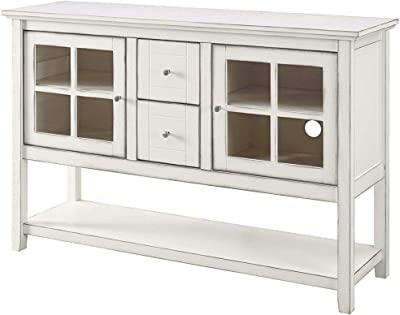 EFD Tall Entertainment Center Cabinets Drawers Shelf White Rustic Modern Minimalist Wooden Adjustable Heavy Duty Large Amazon.com: WE Furniture 52\