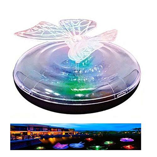 TASGK Schwimmende Unterwasser Led Licht wasserdichte Solar Betrieben Wasserlicht Outdoor Pond Dekoratives Farblicht Für Pool Nachtlampe Sicherheit Und Umweltschutz, Für Kindergeschenke,Butterfly