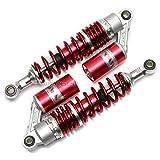 WildBee 320mm 12.5 Pulgada Universal Amortiguadores Suspensión Trasera Compatible con Más ATV Go Kart Quad Motocicleta Rojo Plata