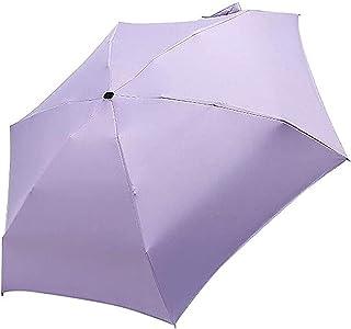 للطي البسيطة جيب مظلة يندبروف السفر مكافحة مظلة النساء الرجال في الهواء الطلق لسهولة الأمان تمطر الملحقات (Color : Purple)
