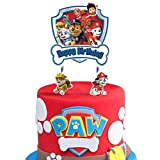 Paw Cake Topper Dog Theme Happy Birthday Party Cake Toppers, Cake Decorations for Bday Theme