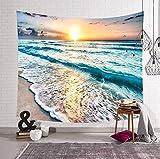 Coucher du soleil paysage marin tapisserie pendaison ferme décoration imprimée hippie tapisserie murale en tissu canapé couverture pique-nique tapis 200 * 150 cm