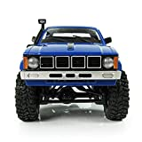 Littleice WPL WD RC Truck 1/16 2.4Ghz Remote Control Crawler Military Truck Assemble Kit Remote Control Vehicle Toy (Blue)