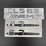 Appiu After C63 E63 CLS63 SL63 lado de giro de remolque de la referencia estándar 6.3AMG etiqueta engomada marca de la palabra etiqueta engomada 3D (color: CLS63Silver set)