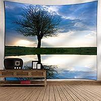 風景の背景タペストリー、柔らかい布、良いサグ、壁掛けに適し、高精細パターンデジタル印刷、カラフルな、非フェージング。 12