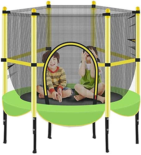 YAOJIA Indoor trampoline Trampoline With Safety Pad For Indoor Fitness Garden Workout Cardio Training 55 Inch(140cm) Max Load 300lbs