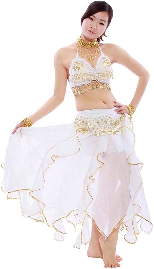 Rock Bauchtanz Karneval Baucht/änzerin Kost/üm Belly Dance Kleidung Outfit Indien Dance Kleidung Oberteil Schleier H/üfttuch Hose Top WanYangg Bauchtanz Kost/üm Set