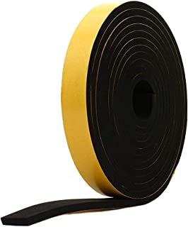 Neoprene Rubber Sheet STRIP1//4 Thick X 3 Wide X 10 PSA Adhesive ONE Side