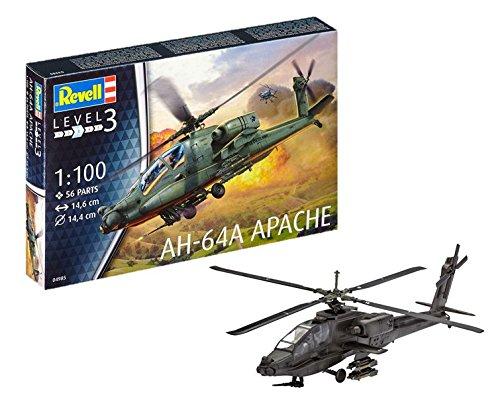 Revell-AH-64A Apache Maqueta Helicóptero, 10+ Años,