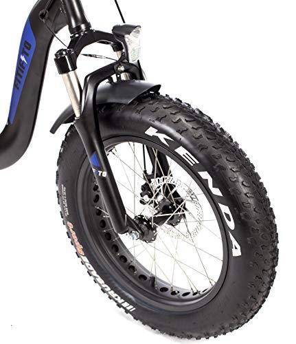51kEE5F4IhL - Fitifito klappbar Fatbike FT20 20 Zoll Elektrofahrrad Fatbike E Bike Pedelec 48V 250W Bafang casstte Heckmotor 9 Gang Shimano Schaltung