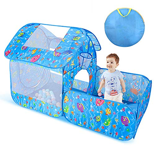 Nice2you Play Tent for Children Pop up Kids Tent Indoor and Outdoor Deal for all Girls and Boys (Blue)