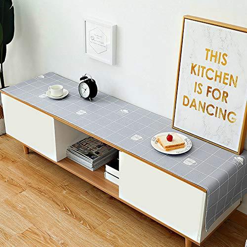 YOUYUANFNordic Modern Minimalist Cloth Tablecloth TV Cabinet Cover Cloth Impermeable a Prueba de Aceite Hot Table Cloth Table Flag 48 * 220cm