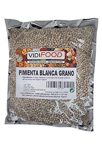 Pepe Bianco in Grani - 1kg - Condimento Aromatico al Pepe per Piatti di Keto e Vegano - Senza Glutine