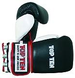 TOP TEN 'WEIGHT' LEDER Boxhandschuhe mit Gewichten 'Grösse L Large' Gewichtshandschuhe...