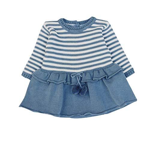 Charanga VITRICOT Vestido, Multicolor (Listado 852), 86 (Tamaño del Fabricante:18-24) para Bebés