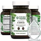 Natural Nutra Vitamin B Complex with Niacin, Folic Acid, Biotin, Whole Food Supplement, 60 Vegetarian Capsules