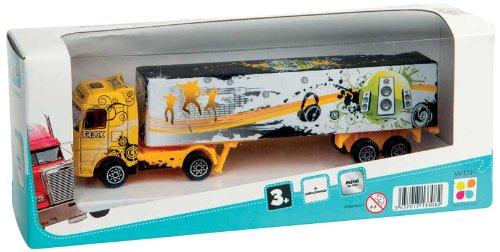 WDK PARTNER - A1300052 - Véhicules miniatures - Camion avec remorque métal - Modèle aléatoire