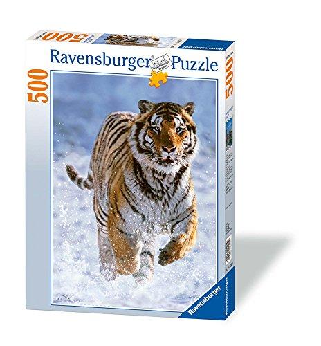 Ravensburger Italy- Tigre nella Neve Puzzle da Adulti, Multicolore, 500 Pezzi, 878509