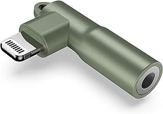 Mangotek Replacement for Apple iPhone Headphones Adapter, MFi Right Angle Lightning to 3.5 mm Headphone Jack Adapter Earph...