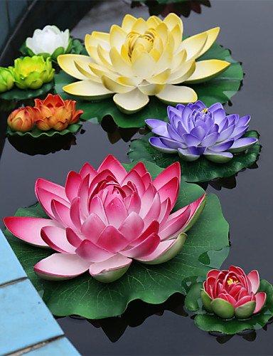 Mode Bouquet,fleurs artificielles Polyester Lotus Fleurs artificielles , dark pink