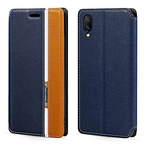 Vivo Nex S Étui à rabat en cuir avec fermeture magnétique et porte-cartes pour Vivo Nex S (16,7 cm) Multicolore
