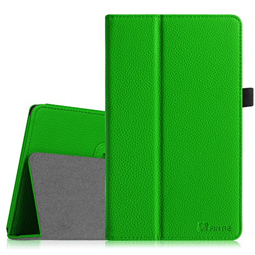 Fintie Hülle Case für Odys Winpad V10 2in1 / Odys Windesk X10 25,7 cm (10,1 Zoll) Convertible Tablet-PC - Slim Fit Folio Kunstleder Tastatur Ständer Schutzhülle Cover Tasche, Grün