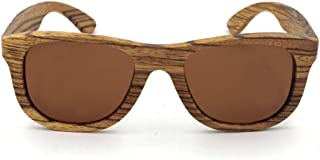 LUKEEXIN Wooden Full Frame Retro Sunglasses, Unisex, Fashion Cool Design (Color : Brown)