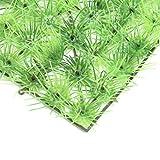 Pared de Planta Artificial, césped de simulación de plástico de Alta Resistencia, para decoración de acuarios, Patio, Porche, cercas de Madera