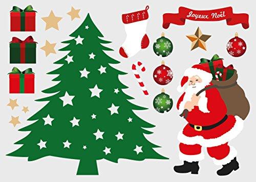 DECOLOOPIO Adesivo per Decorazione di Natale tavola Decorazione Albero, 21 x 30 cm