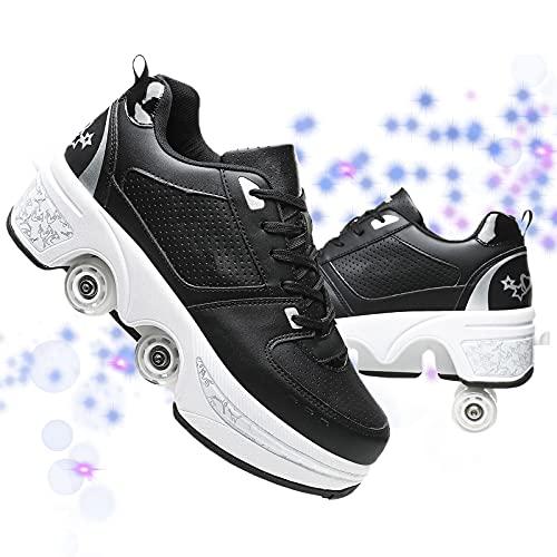 JZIYH Zapatillas Deportivas Zapatos con Ruedas Unisex Luz Automática De Skate Zapatillas con Ruedas Zapatos Patines Deportes Zapatos para Niños Niñas