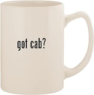 got cab? - White 14oz Ceramic Statesman Coffee Mug Cup