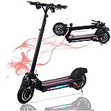 Electric Scooter Faltbarer Elektroroller, 10 Zoll Big Wheel E-Roller und LCD-Bildschirm - City Scooter Elektro Scooter für Erwachsene und Jugendliche (600W (35KM/H 12Ah))