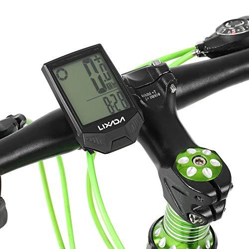 Lixada Cuentakilómetros para Bicicleta Inalámbrico Impermeable IPX6 Temperatura Medible Cronómetro Cronómetro para...