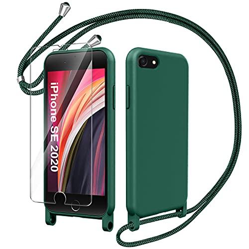 AROYI Funda Cuerda con Cristal Templado Compatible con iPhone SE 2020 /iPhone...