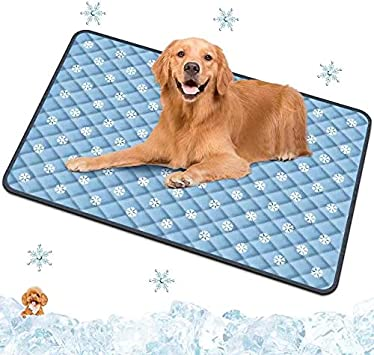 Spessn Alfombrilla de orina para mascotas, alfombrilla de refrigeración para mascotas, alfombrilla de refrigeración para perros y gatos, reutilizable, impermeable, para cachorros, perros