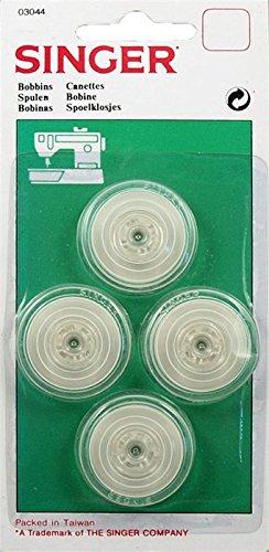 Singer Ref 03044 Lot de 4 canettes pour machine à coudre Singer 700 / 1425 / 250