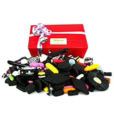 liquorice selection gift box - 1 kilo of quality assorted liquorice in a gift box packed to order with ribbons Liquorice Selection Gift Box – 1 Kilo of Quality Assorted liquorice in a Gift Box Packed to Order with Ribbons 51kEM0p e0L