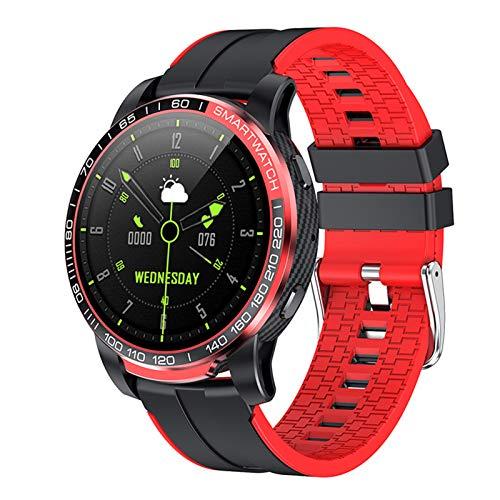 BNMY Smartwatch, Reloj Inteligente Impermeable IP67 con Monitor De Sueño Pulsómetros Cronómetros, Pulsera De Actividad Inteligente para Hombre Mujer Niños con iOS Y Android,Rojo