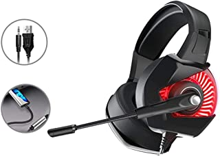 Headphones Headset Computer Gaming Game Wired Belt Mai Jedi Survival Cf Eating Chicken Listening Defence Line Control Desktop Notebook Phone Universal 7.1 Channel Noise Reduction Headset